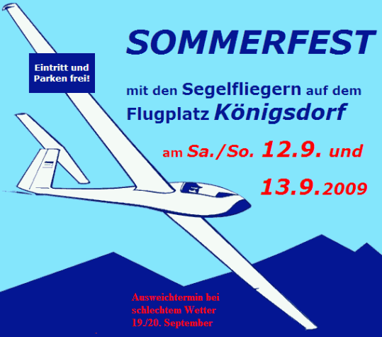 Sommerfest am 12. und 13. September